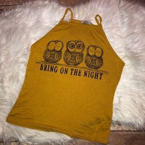 🦋 NWOT Teenbell Owl Top, Size M
